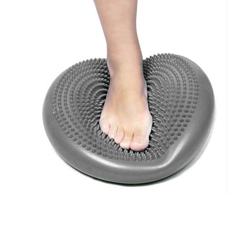 disco de equilíbrio inflável com diâmetro de 34cm cinza