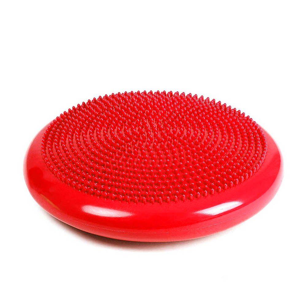 almofada disco de equilíbrio inflável diâmetro 34cm vermelho