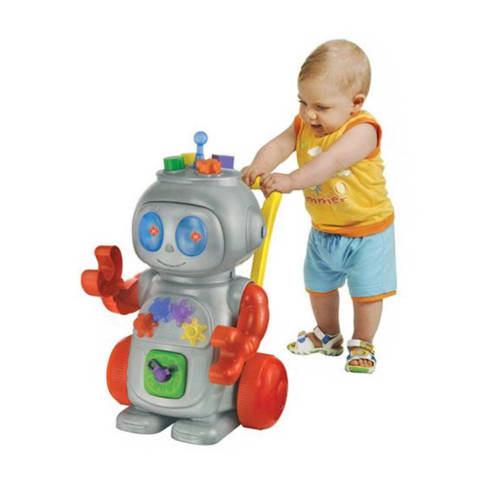 andador para bebe infantil robo vermelho com luzes sons