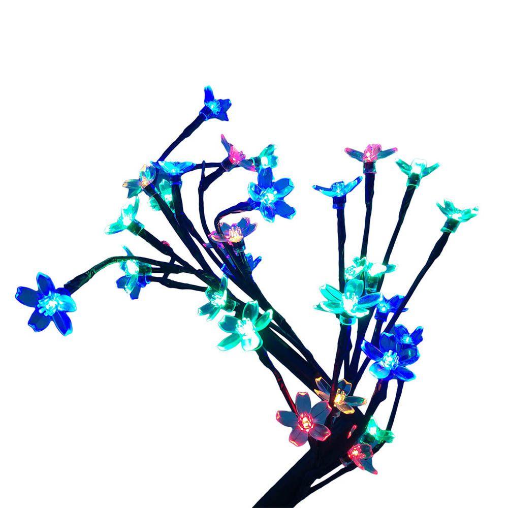 arvore cerejeira abajur de natal com 32 led coloridos 40 cm