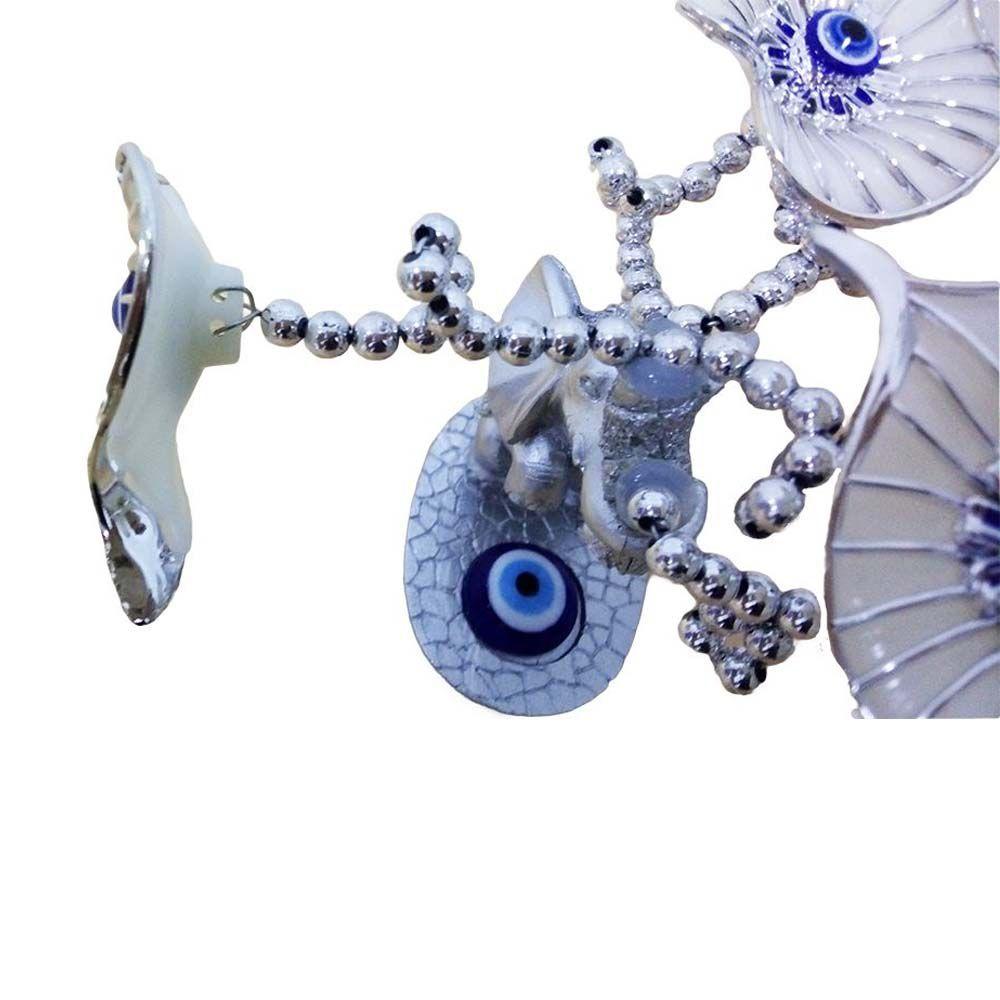árvore do olho grego decorativa com elefante - branco