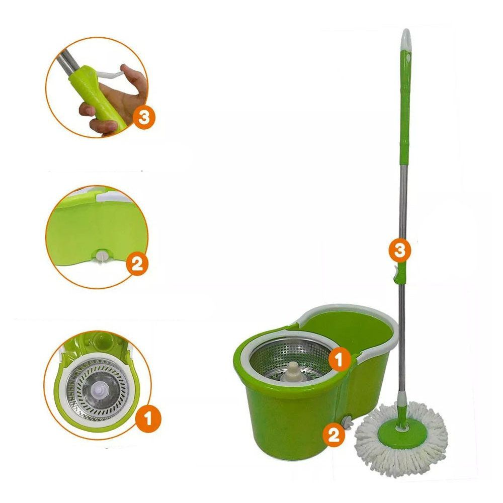 balde esfregão mop saída aguá cesto Inox 1 escovão 2 refis