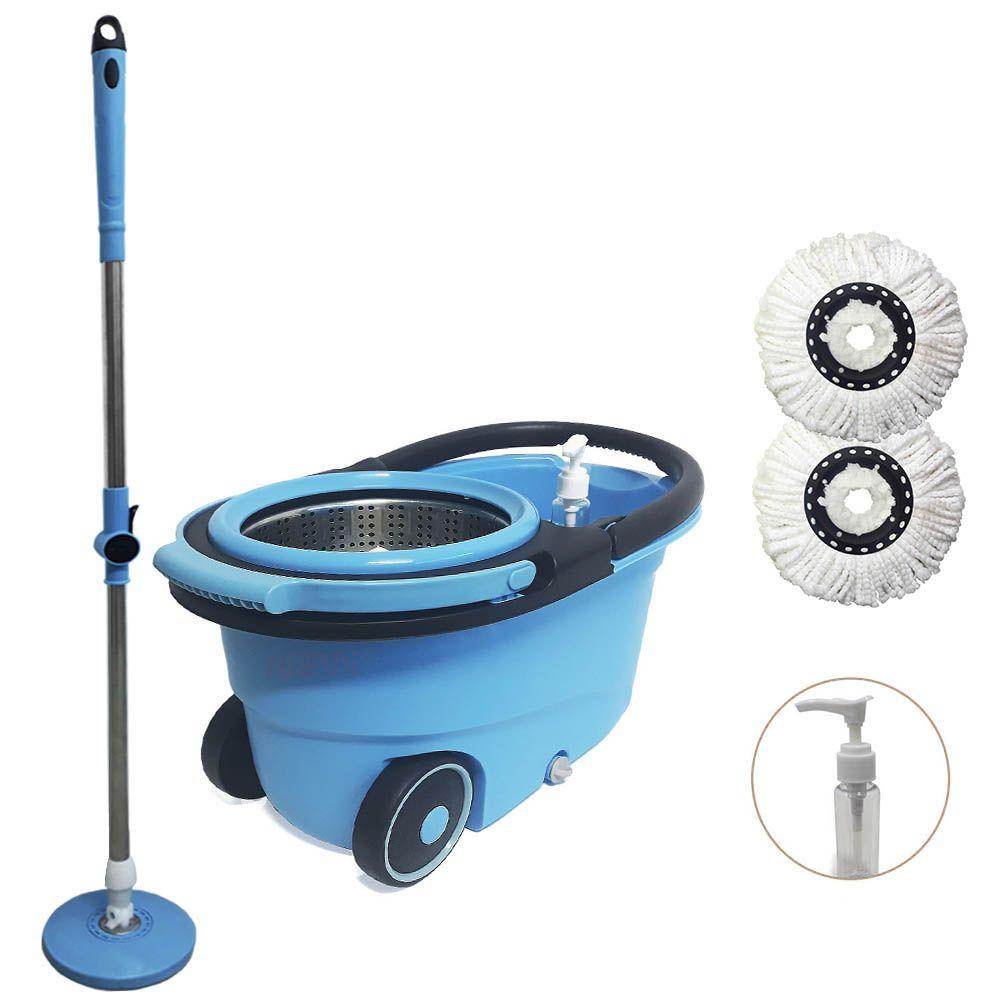 balde mop com rodas centrifuga removível dispenser e 2 refis