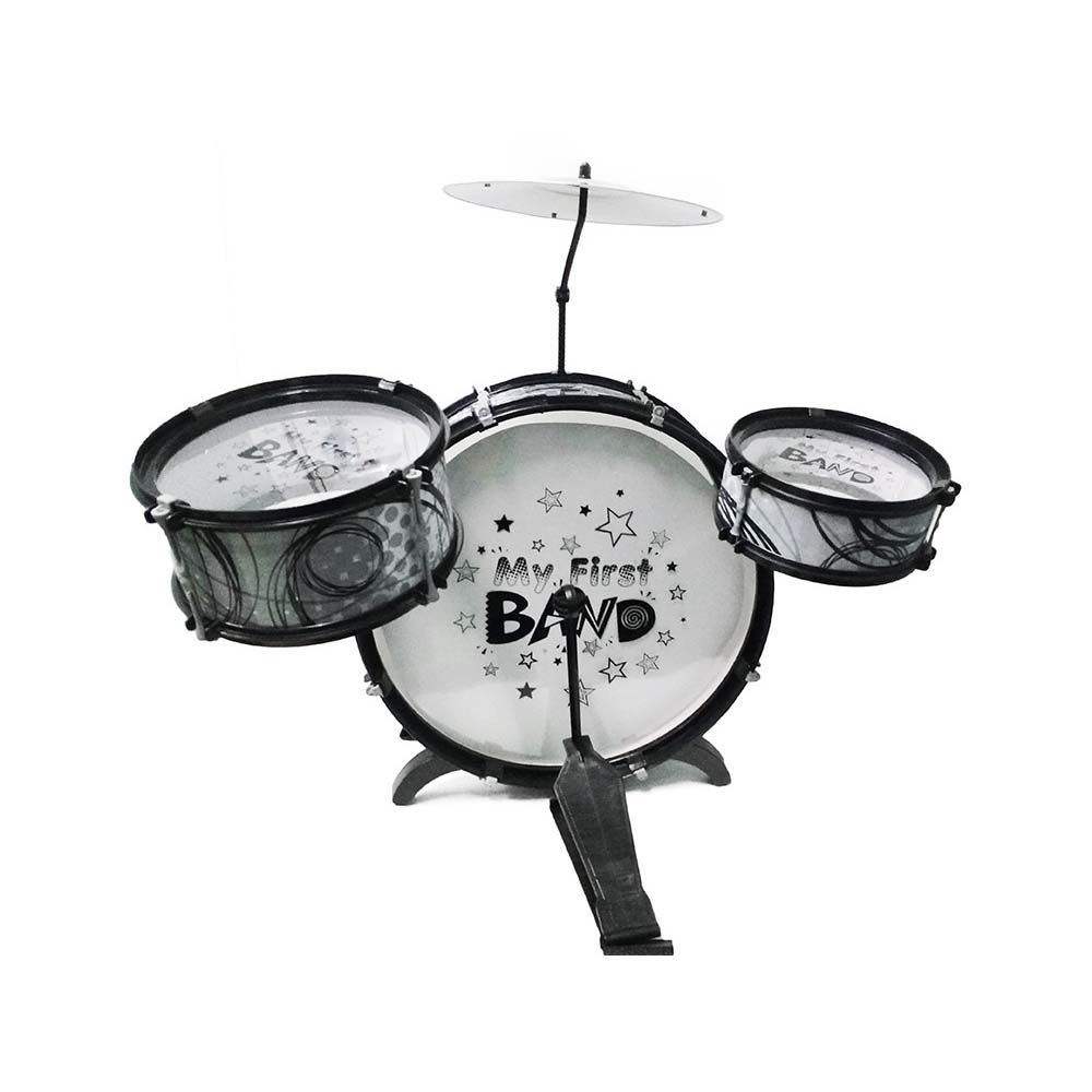 bateria infantil jazz drum com pedal 3 tambores e banquinho