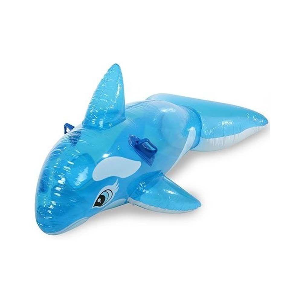 boia infantil inflável baleia azul para piscina com 1.45 m