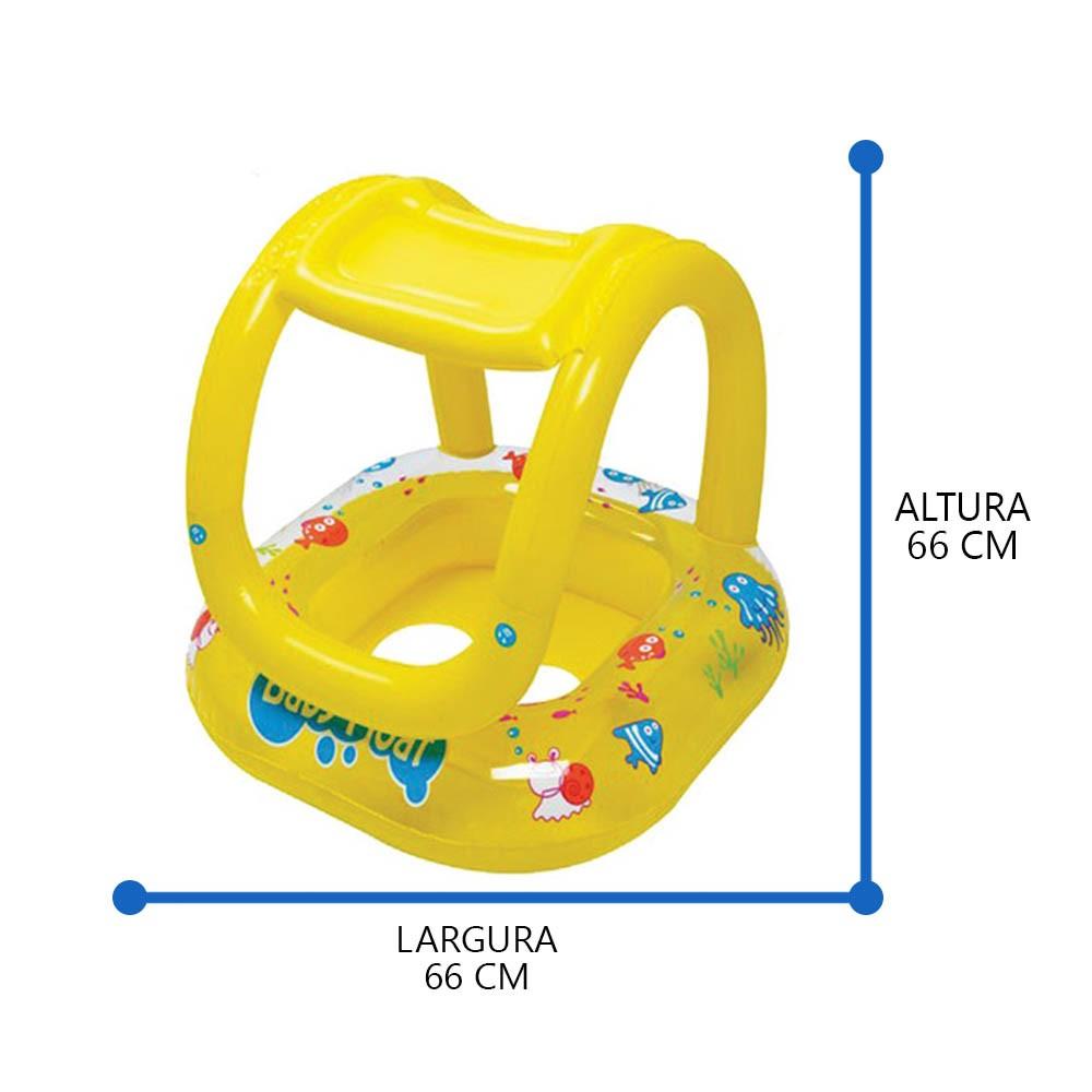 boia inflável infantil com cobertura e encaixe para pernas