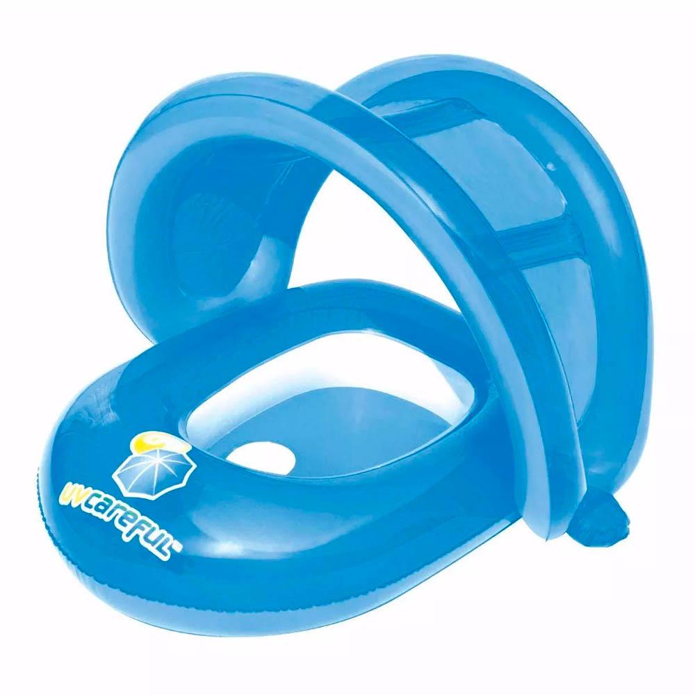 boia inflável infantil com encaixe para pernas e cobertura