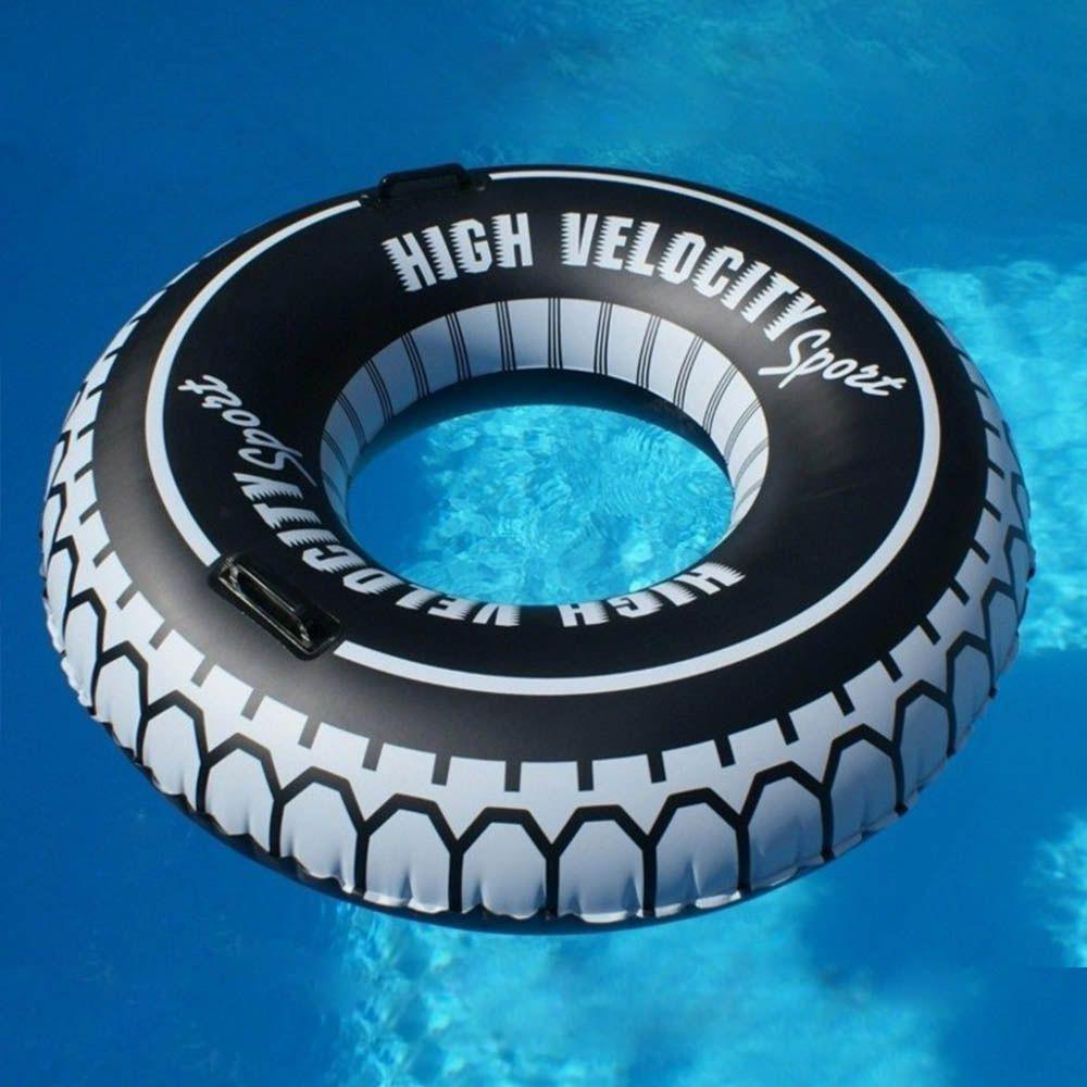 boia para piscina inflável pneu circular 1,19 m com alça