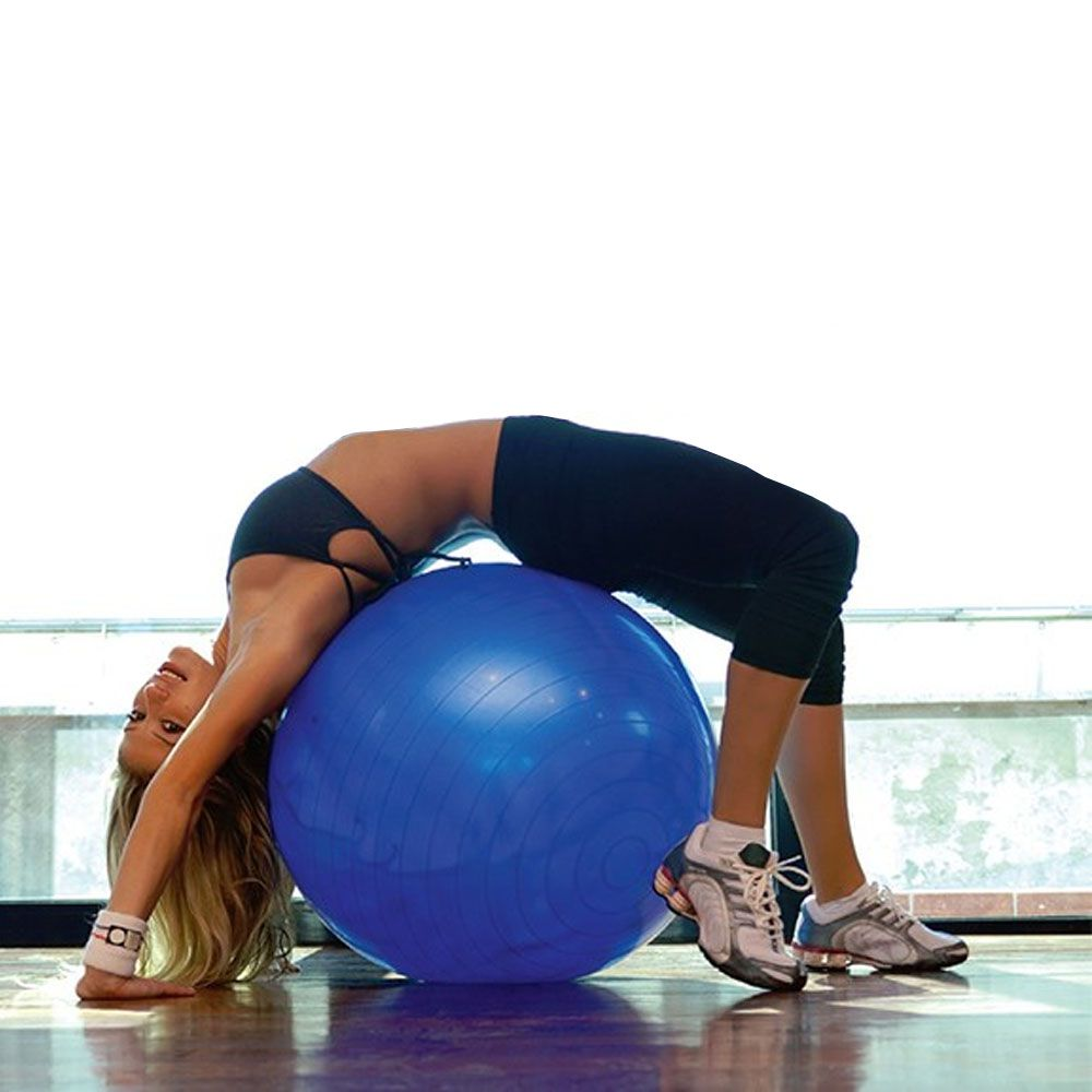 bola de pilates para yoga e ginástica com bomba de ar 75cm
