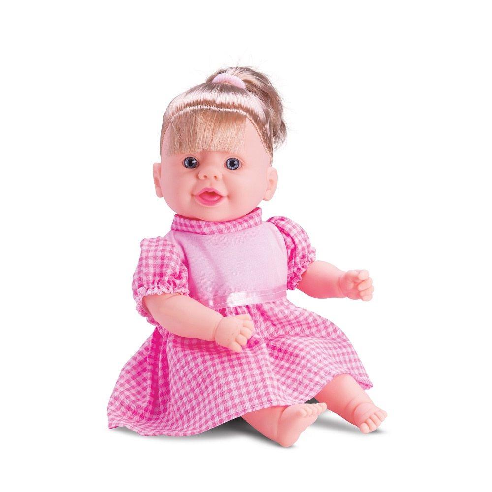 boneca rayane papinha macia e perfumada fala 7 frases 40 Cm