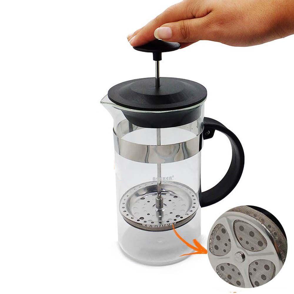 cafeteira francesa portátil manual de 1 litro filtro inox