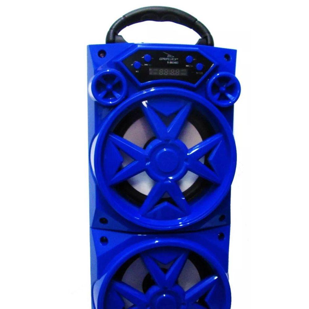 Caixa de Som Bluetooth 15W Recarregável HI-FI com Rádio FM