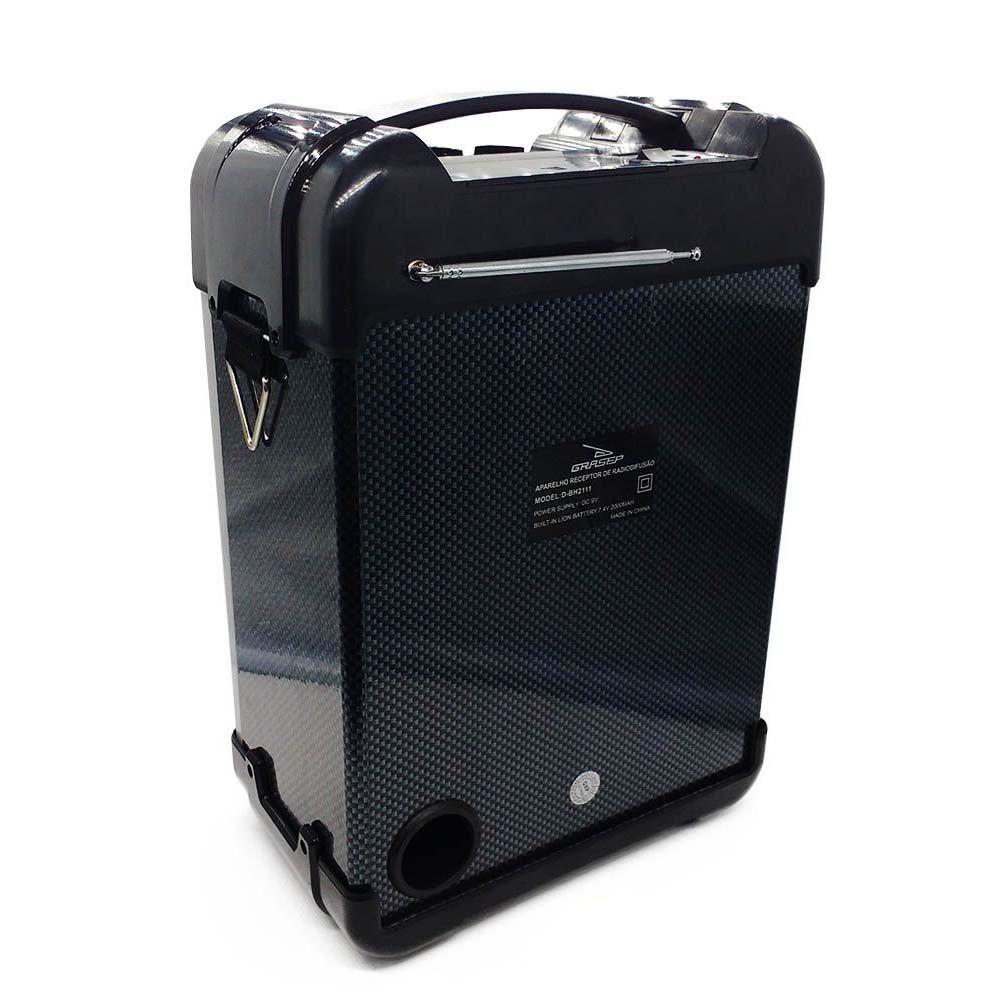 caixa de som bluetooth amplificadora 30W com radio fm-Preta