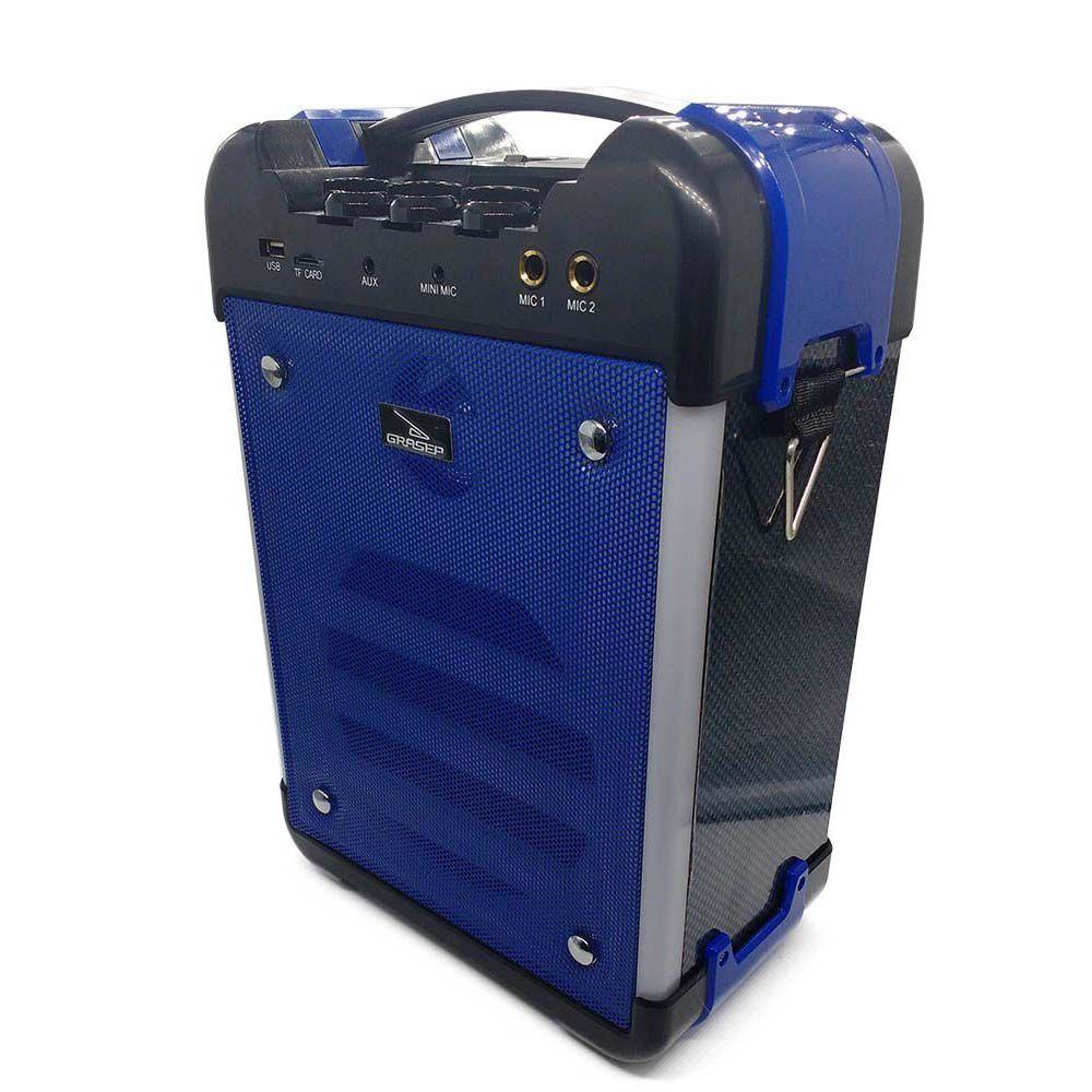 caixa de som Bluetooth amplificadora 30w Radio fm- azul