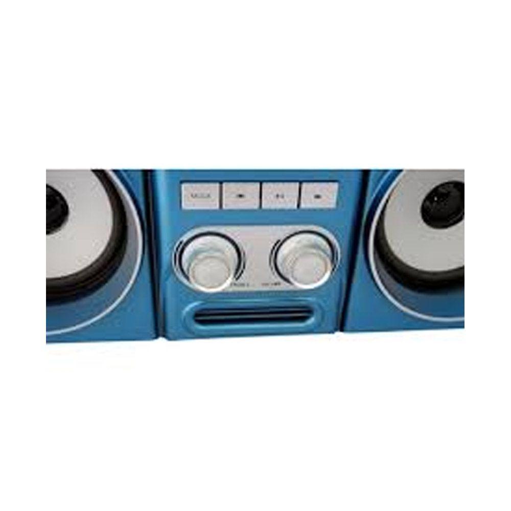 caixa de som bluetooth com radio fm recarregável 20w Azul