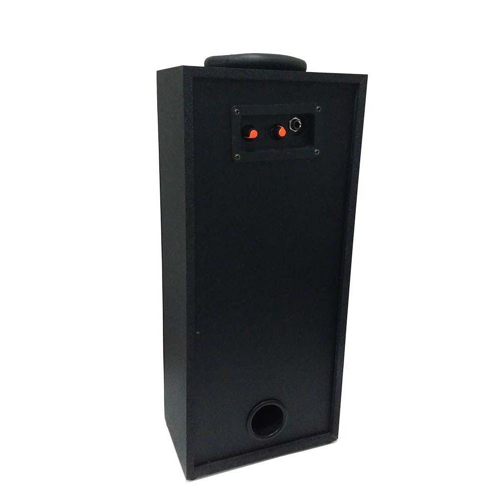 caixa de som bluetooth portátil 40w led com rádio fm - azul