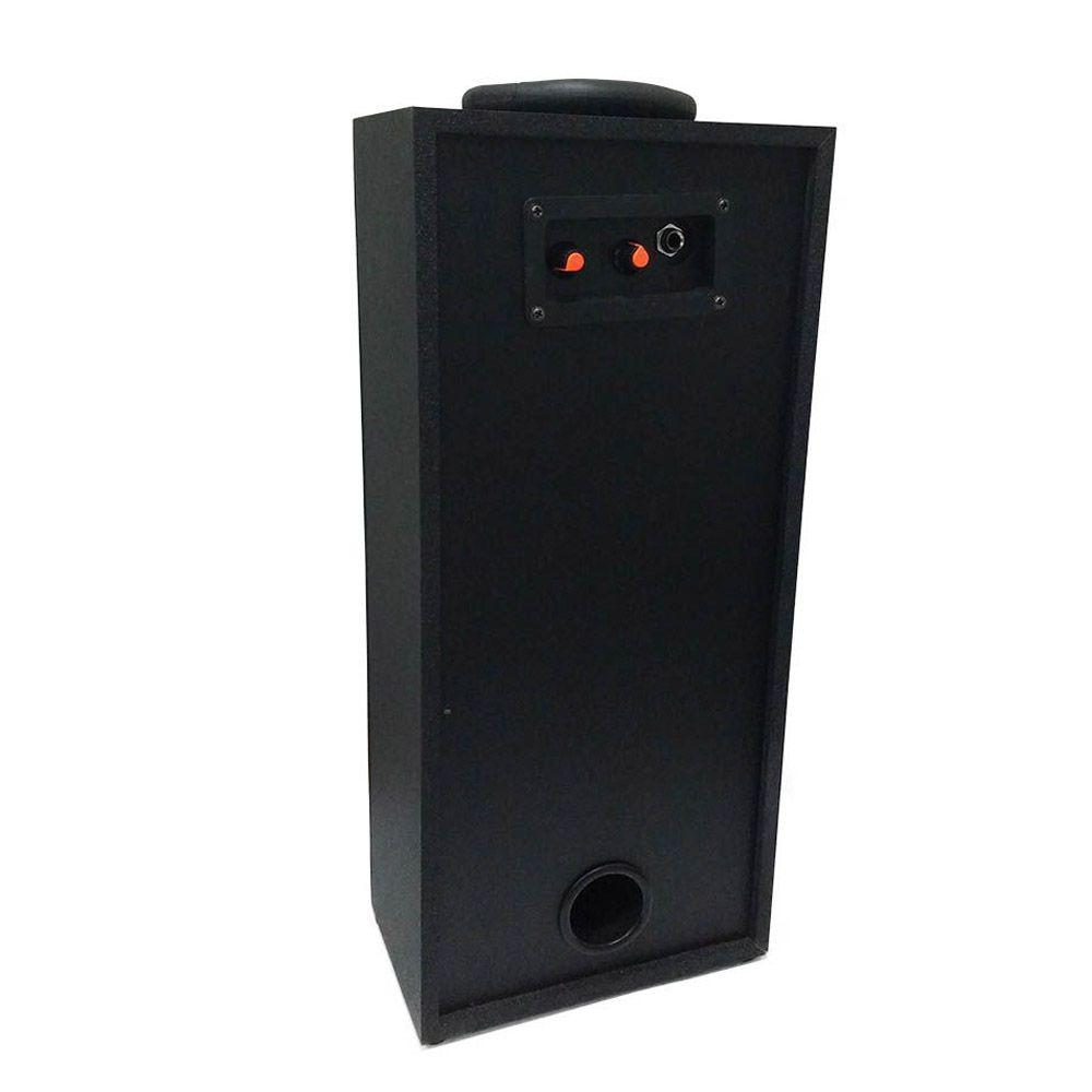 caixa de som bluetooth portátil 40w led com rádio fm preto