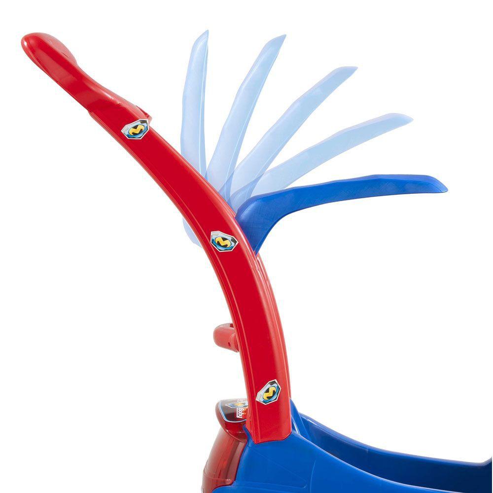 carrinho de passeio infantil com pedal azul - magic toys