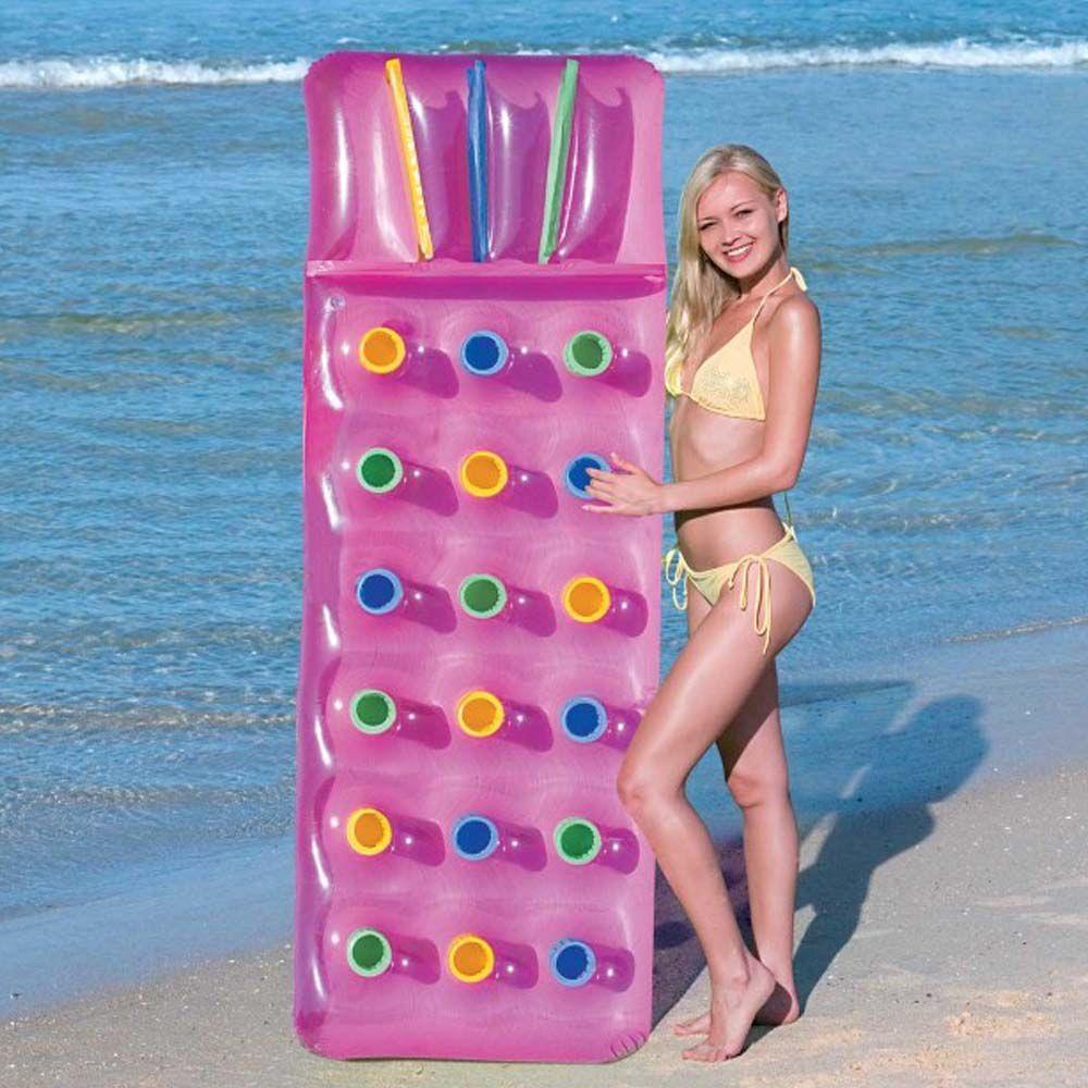 colchão inflável boia para piscina encosto resistente 1,88cm