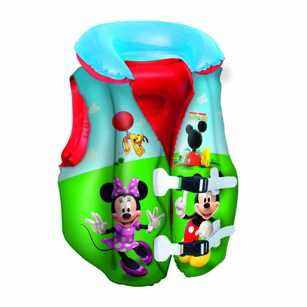 colete salvas vida inflável infantil disney mickey