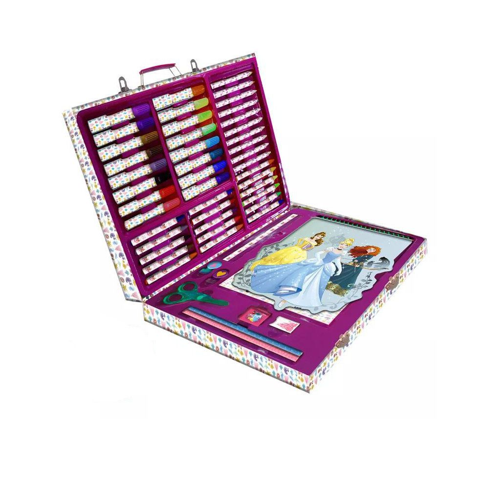 conjunto de pintura maleta metálica d artes princesas disney
