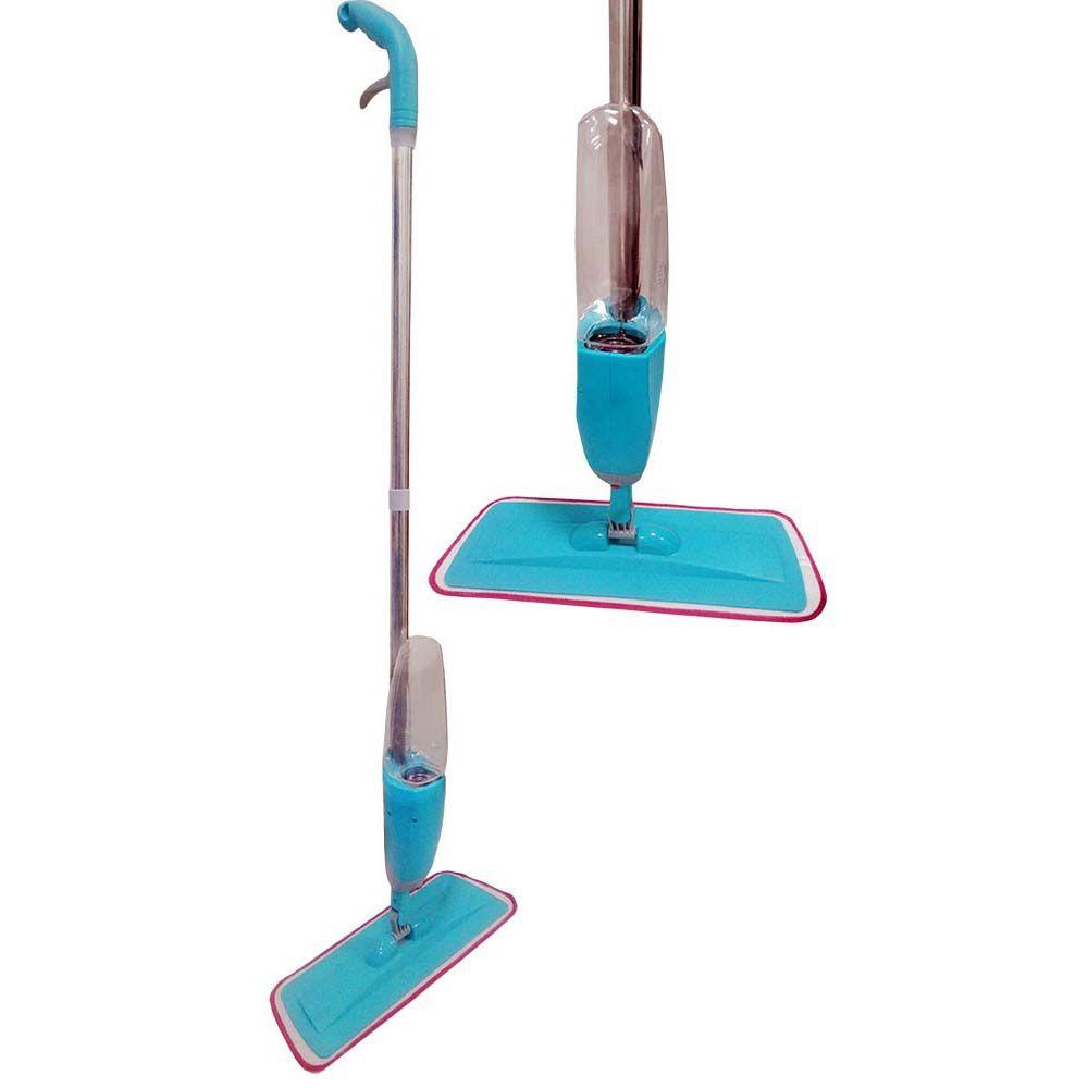 esfregão mop rodo magica com reservatório spray azul