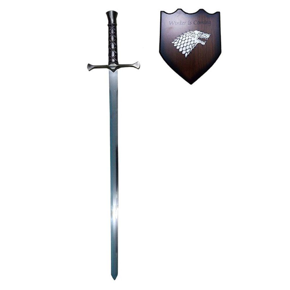 espada decorativa winter Is coming 88cm em aço com suporte