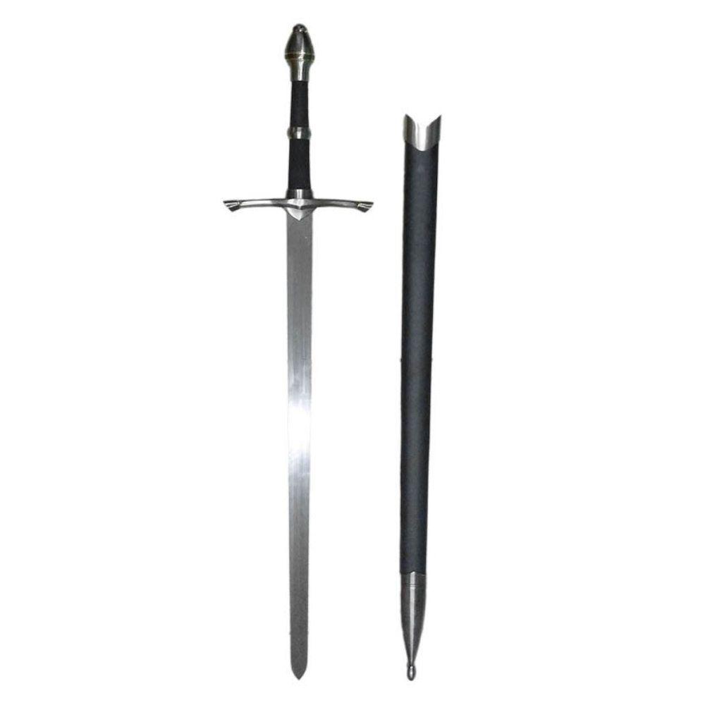 espada medieval decorativa com bainha e suporte 102cm