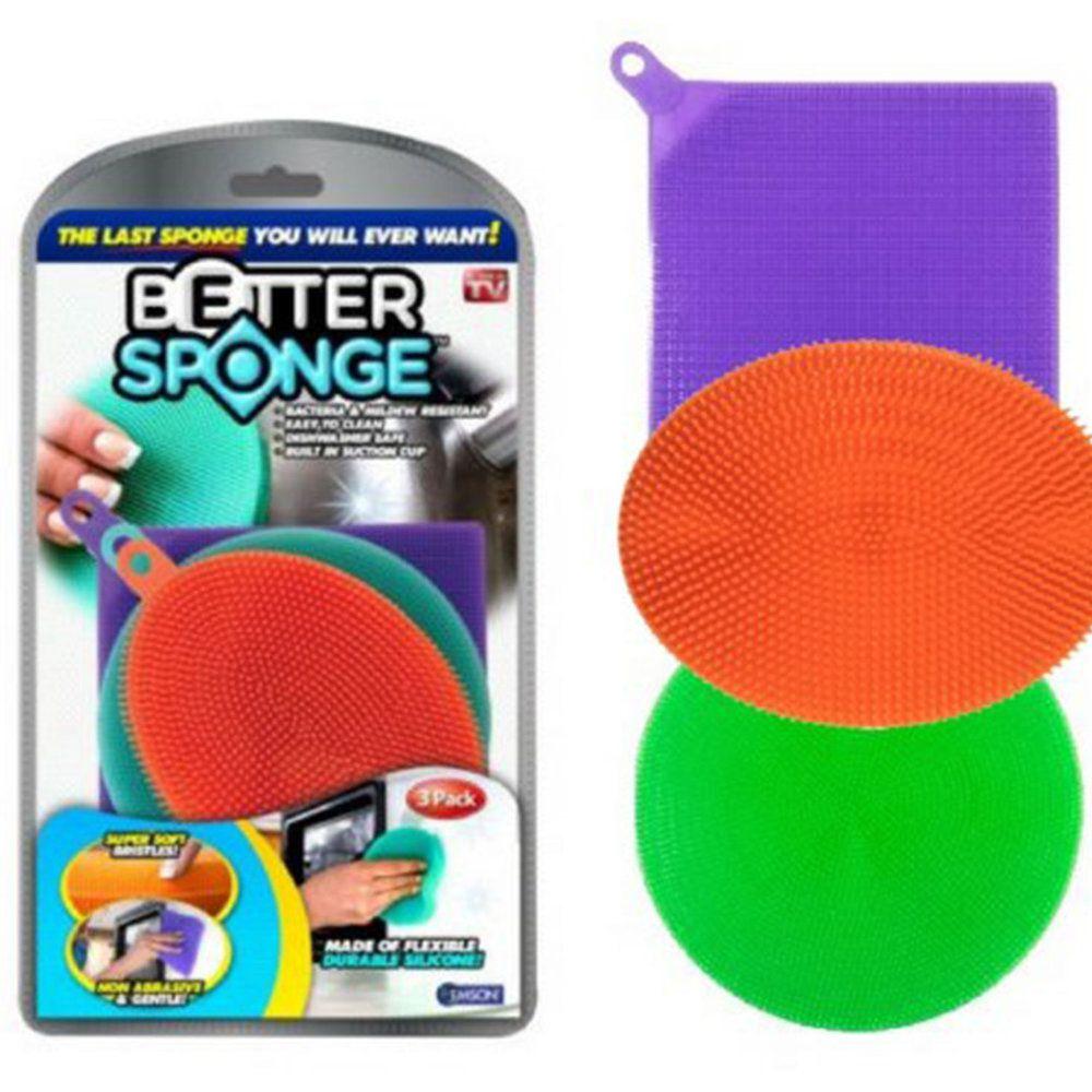 esponja de silicone lava-louça antibacteriana não abrasiva