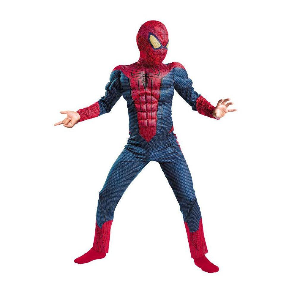 fantasia infantil homem aranha com músculos de 4 a 6 anos