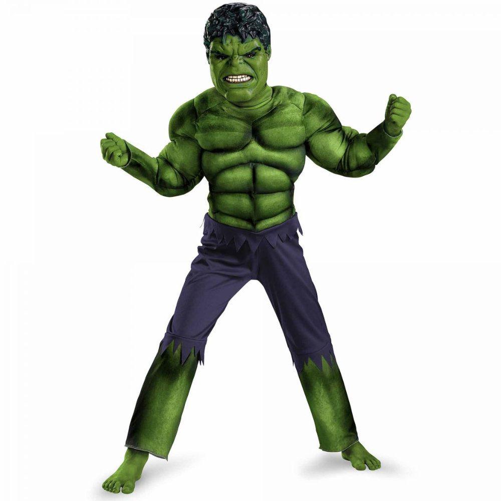 fantasia infantil incrivel hulk com musculos 7 a 8 anos