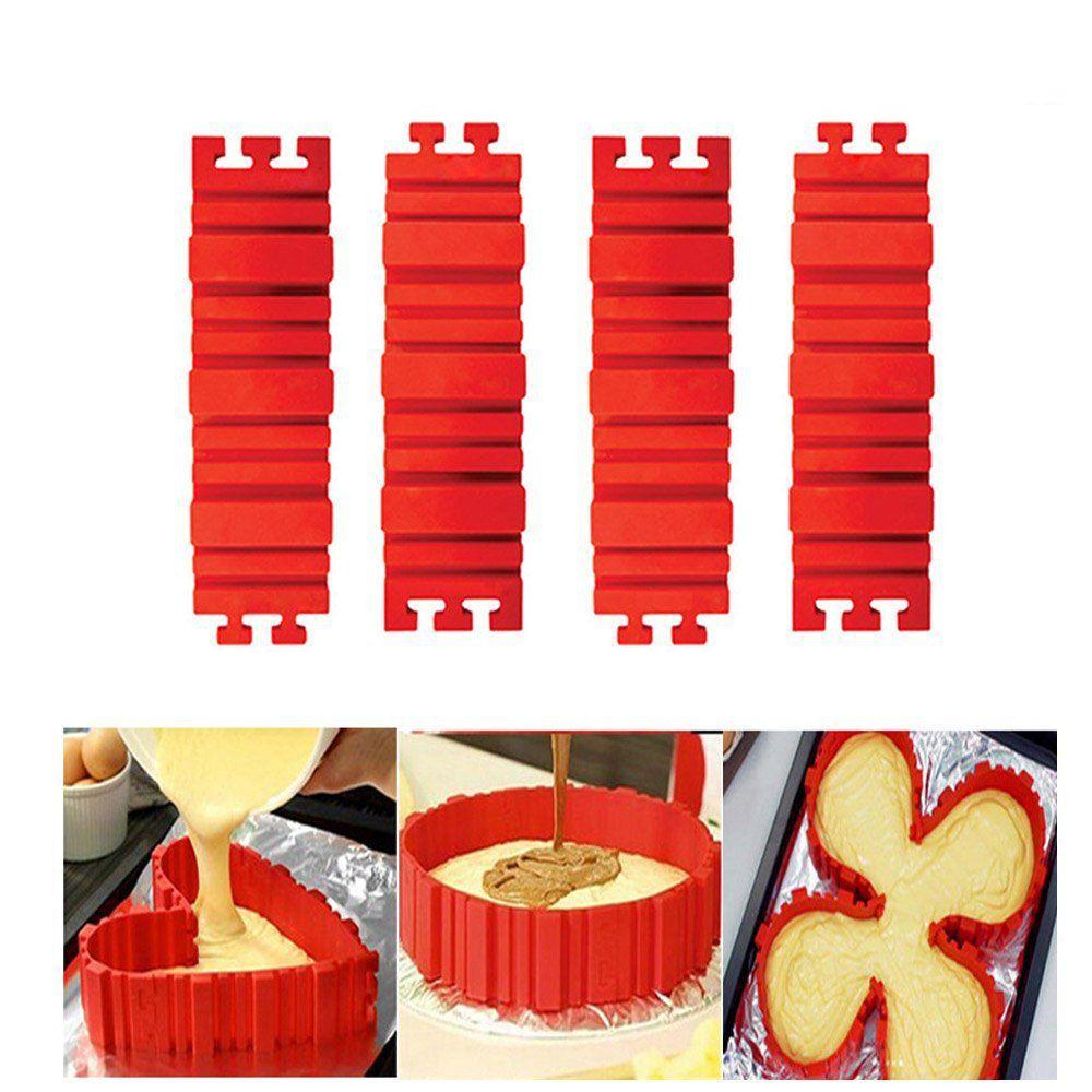 forma de silicone montável bake snake para bolos e tortas
