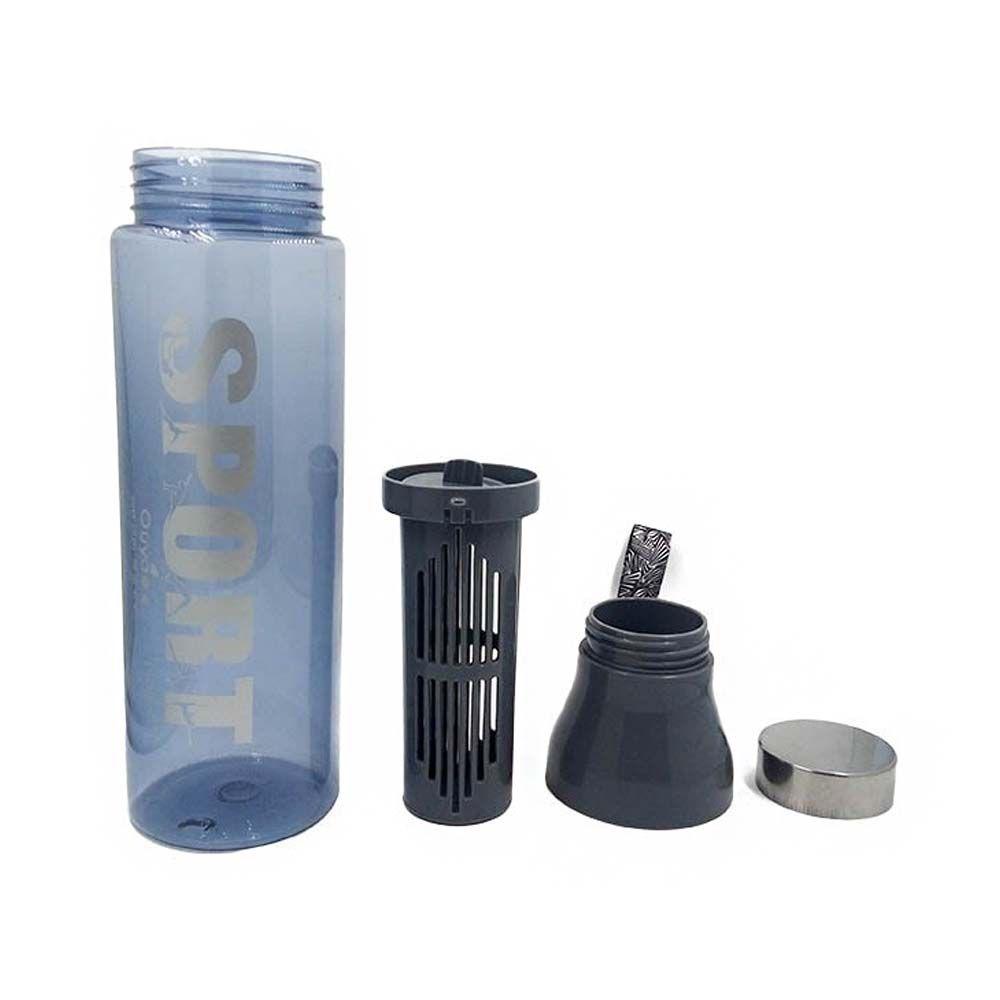 garrafa squeeze esporte 1,5ml com infusor para frutas- Cinza