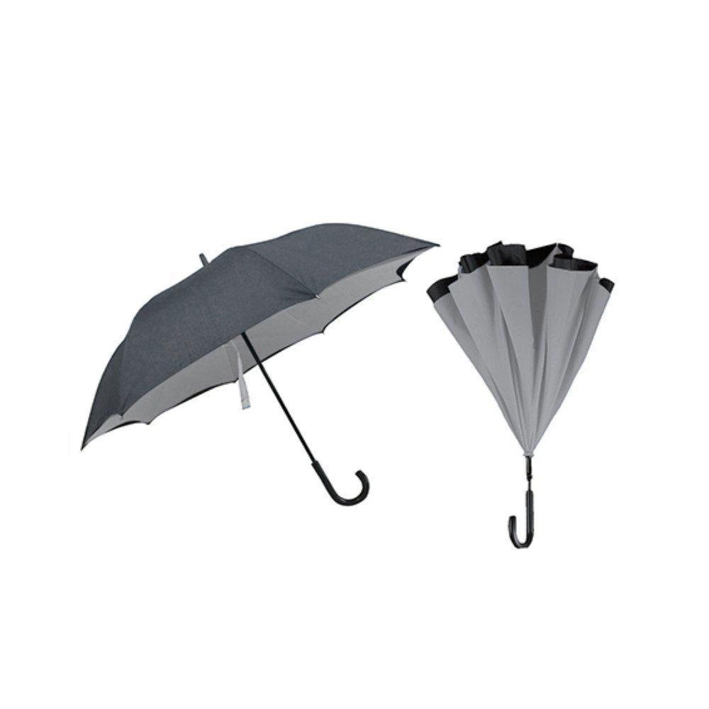 guarda chuva invertido dupla face diâmetro de 117cm cinza