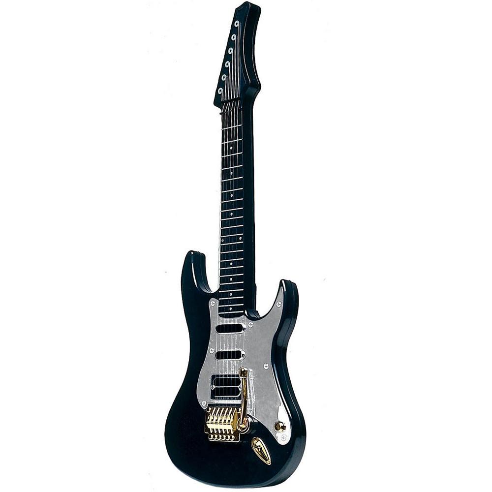 guitarra de brinquedo dtc eletrônica com som alça - preta