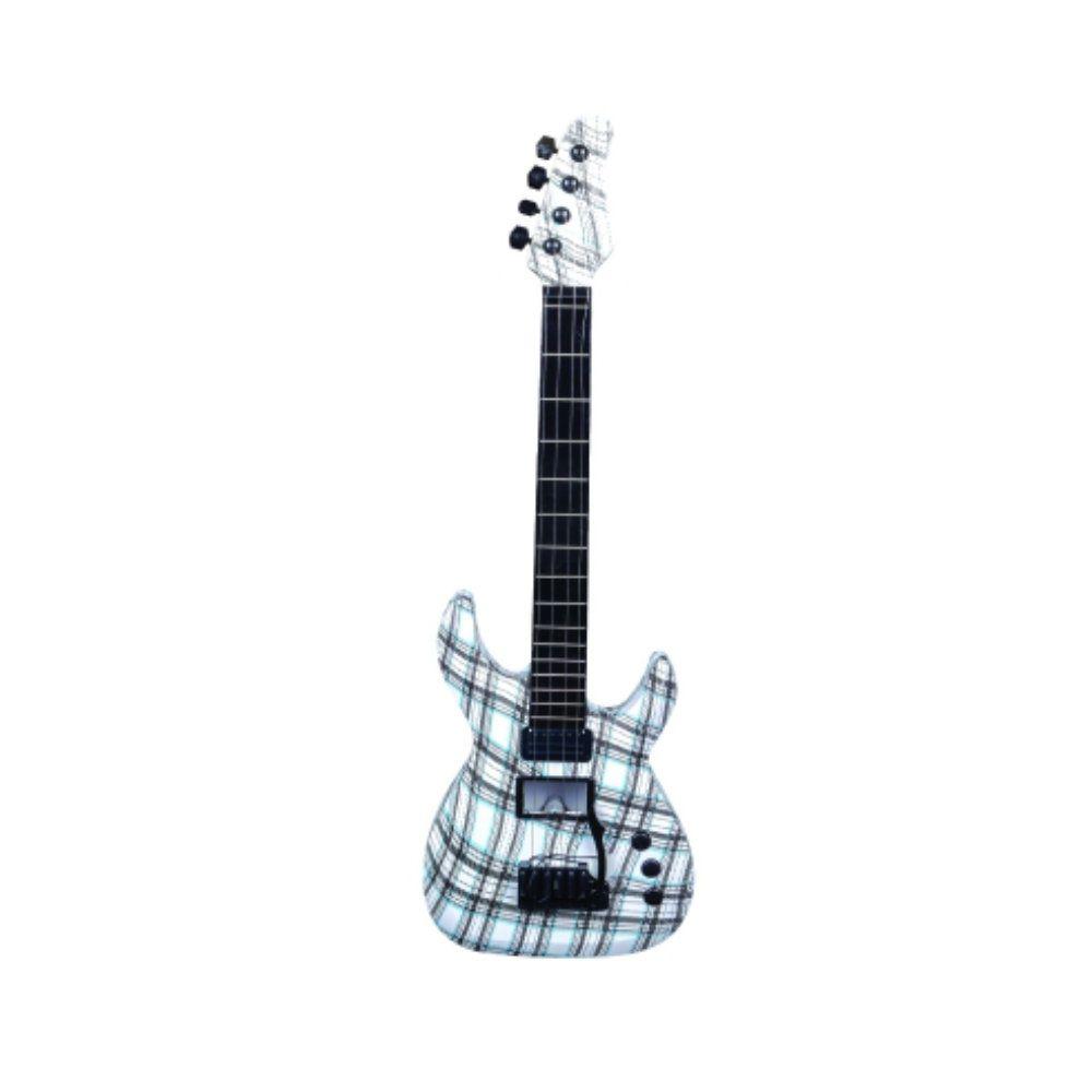 guitarra infantil touch eletrônica com luzes e sons a pilha
