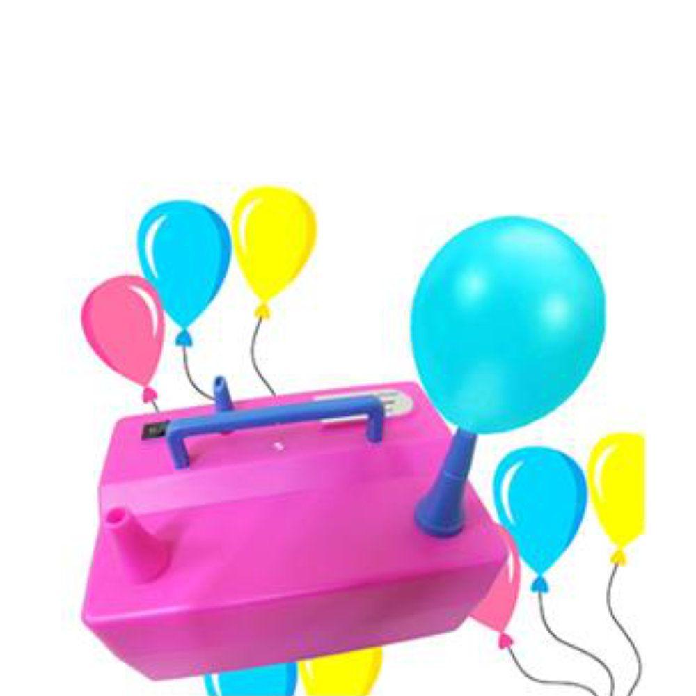 inflador elétrico de baloes bexigas compressor 127v rosa