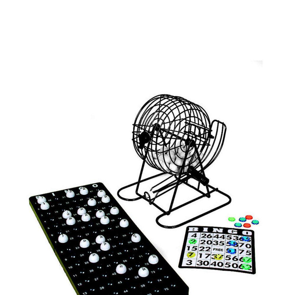 jogo de bingo com cartelas reutilizáveis 75 bolinhas e globo