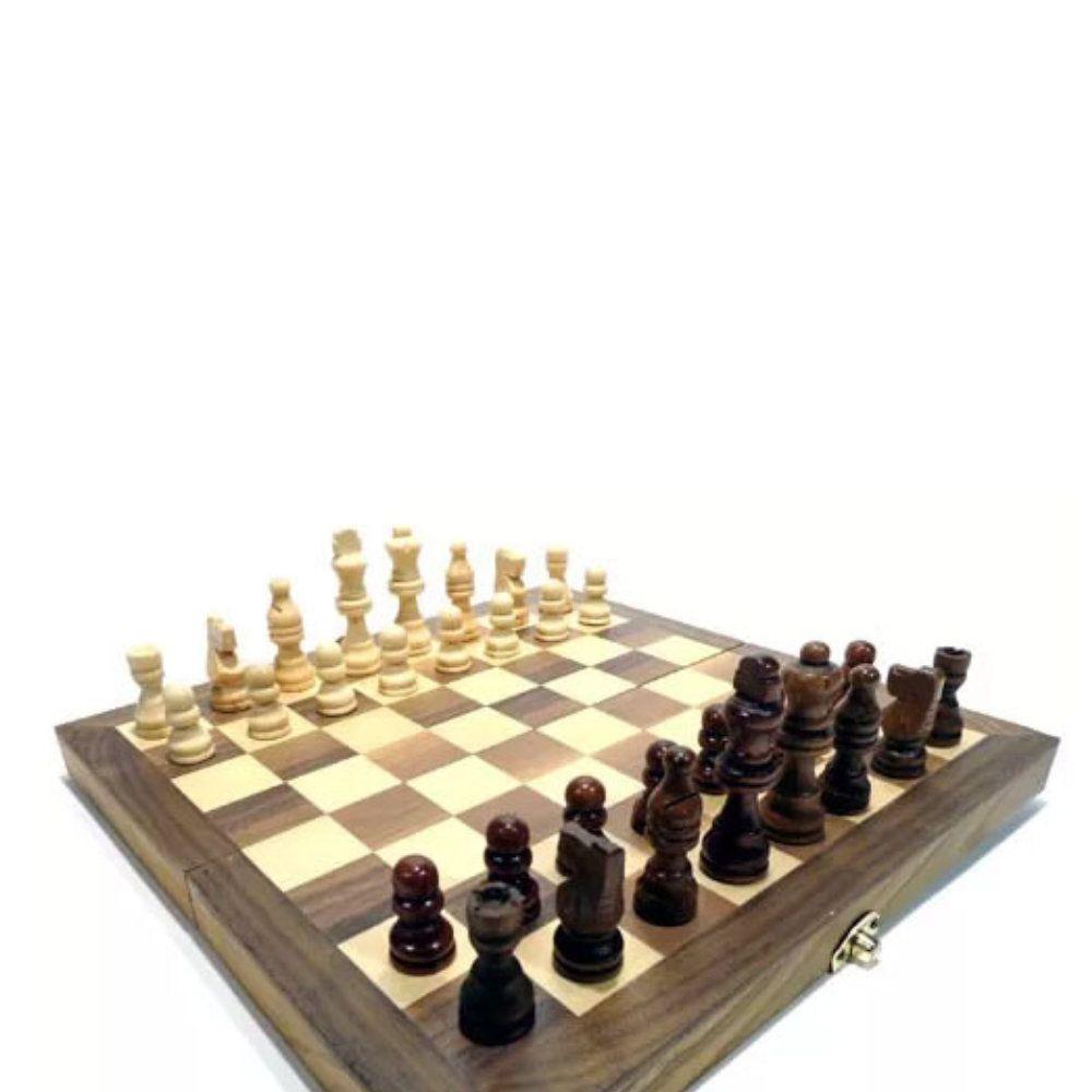 jogo de xadrez damas e gamão tabuleiro 3 em 1 30x30 completo