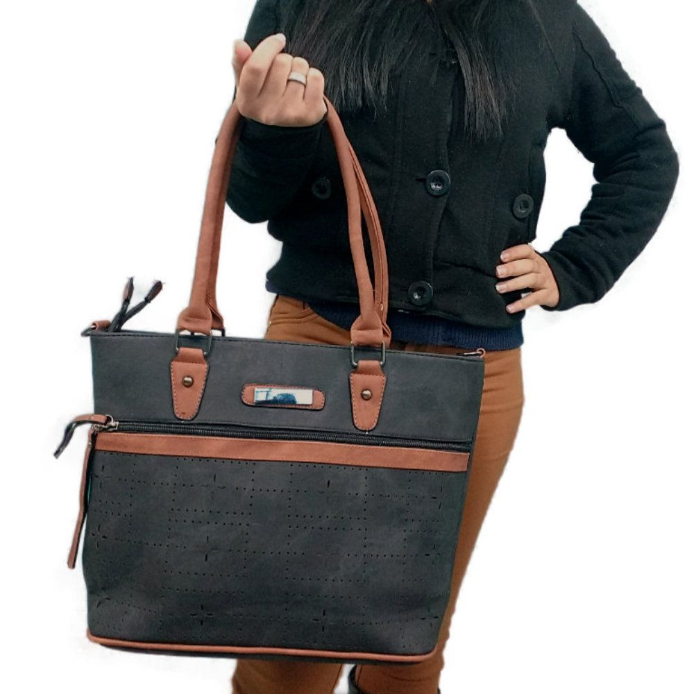 kit 2 bolsas femininas importadas bege com alças removíveis