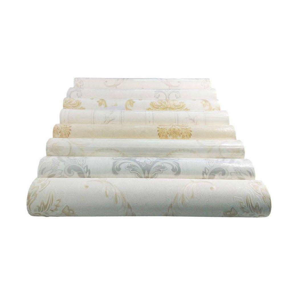 kIT 2 rolos papel de parede vinílico textura 3d com cola