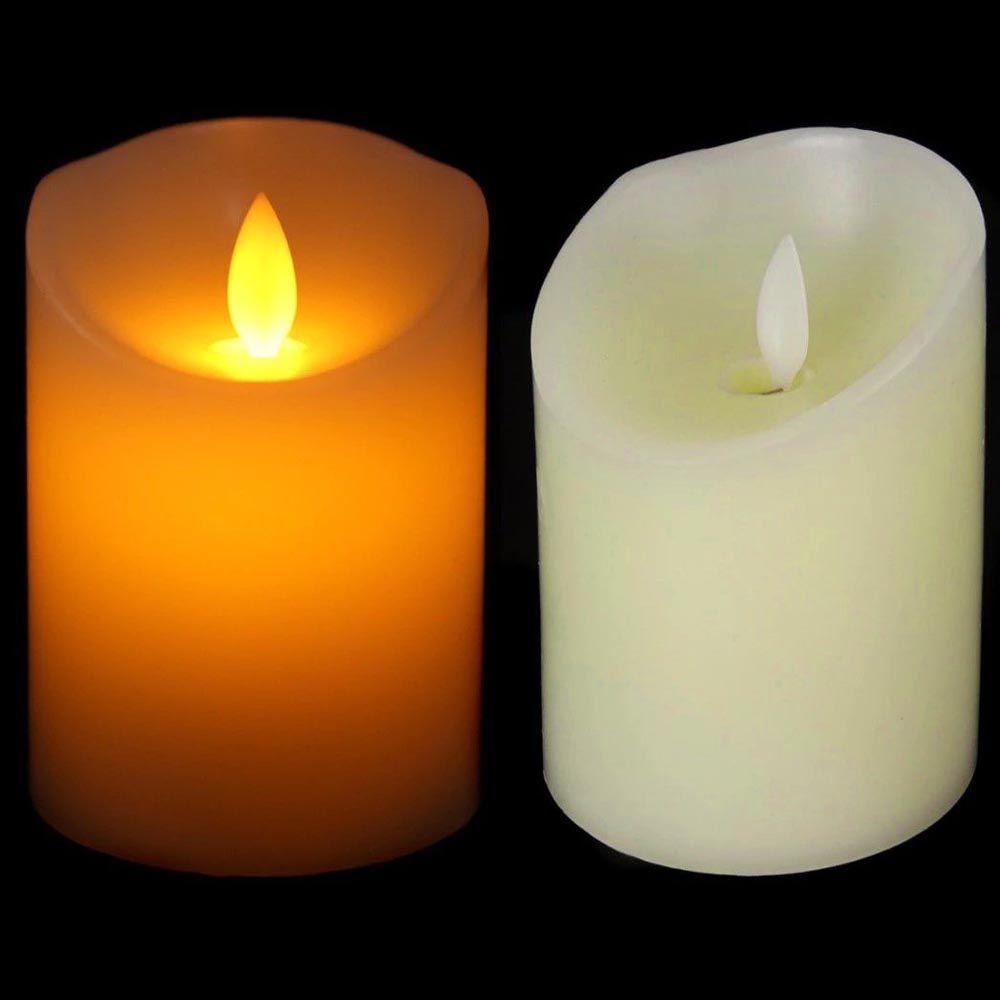 kit 6 velas decorativas led com movimento chama viva a pilha