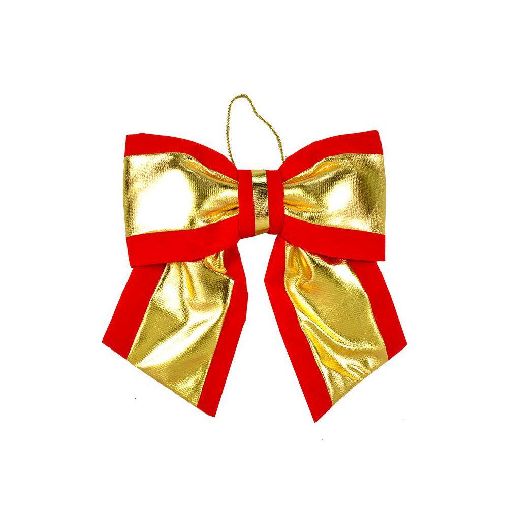 laço de natal enfeite decorativo para arvore ou porta 28cm