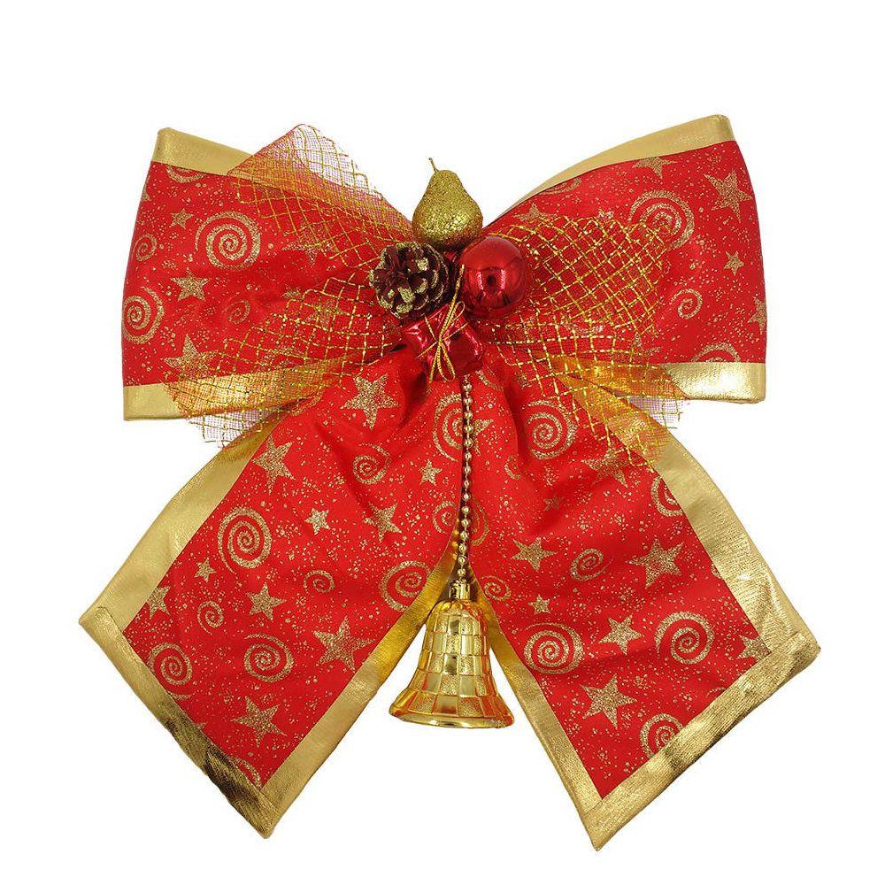 laço decorativo de natal grande para árvore e porta com 35cm