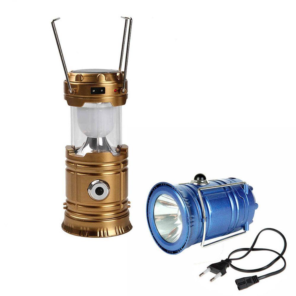 lampião solar lanterna led recarregável saída usb completa
