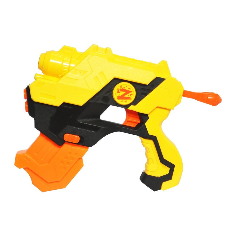 lançador super shot pistola de dardos e água 2 em 1- amarelo