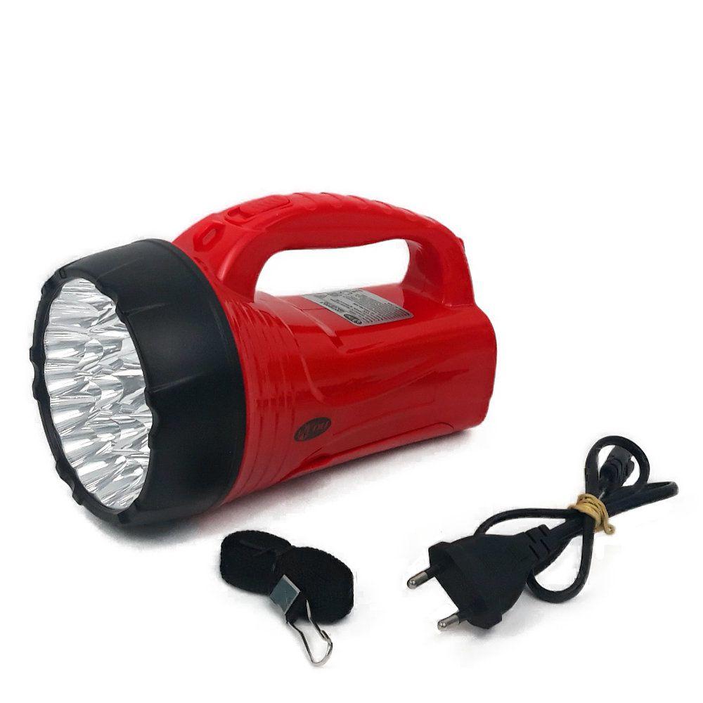 lanterna holofote e abajur recarregável com 26 leds e alça