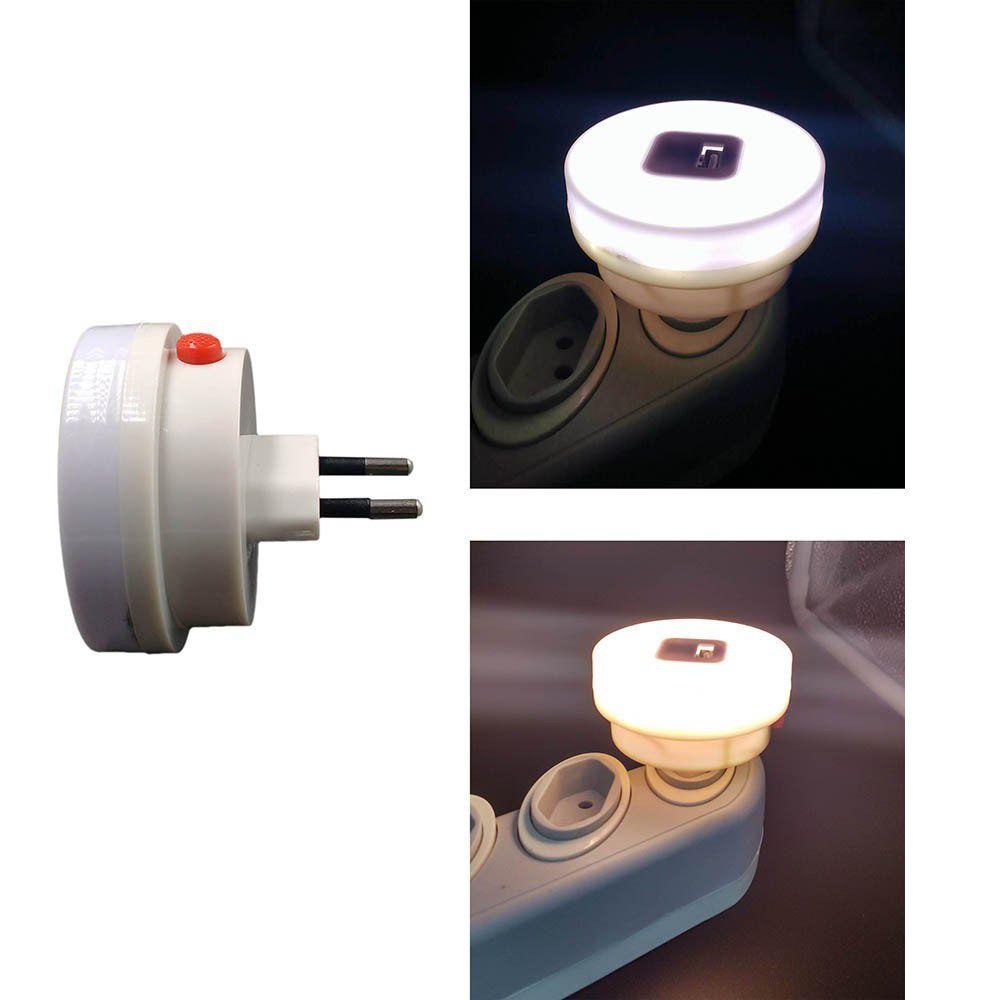 luminária abajur led de tomada econômica com usb bivolt