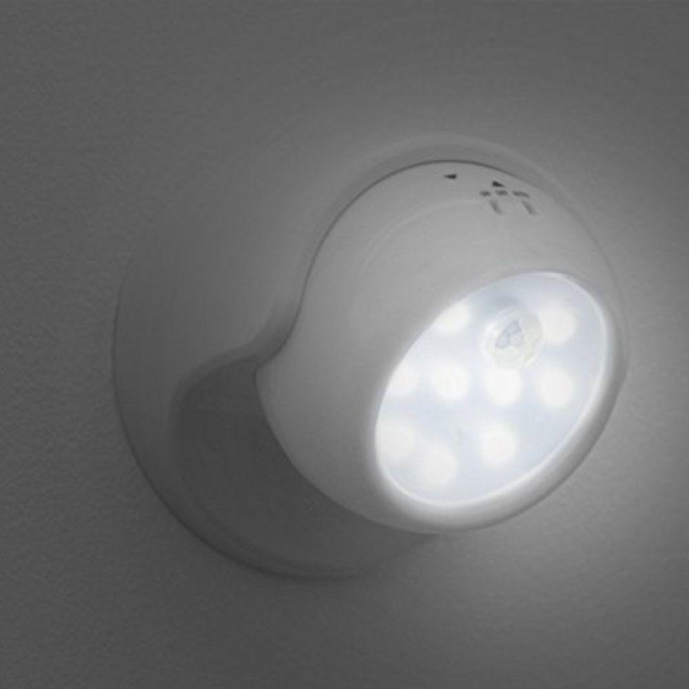 luminária de parede led com sensor de movimento articulada