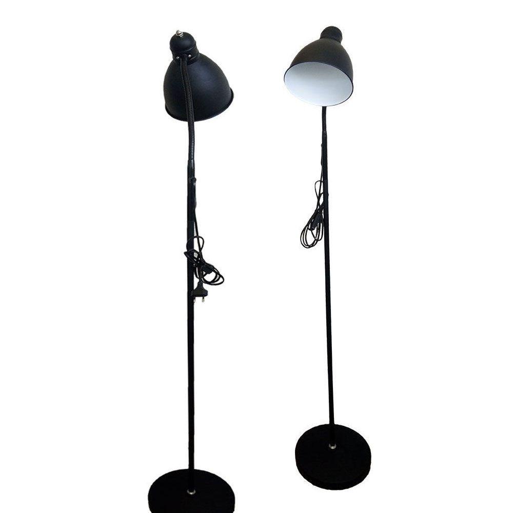 luminária de piso flexível com base magnética de ferro